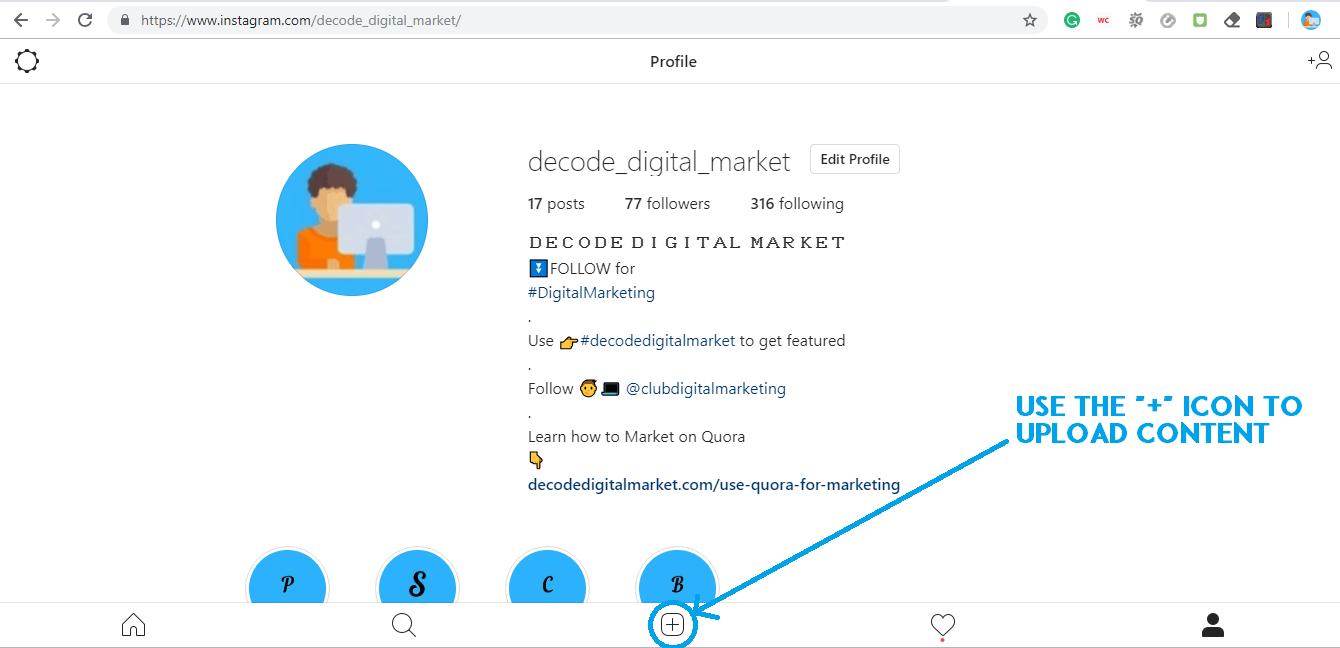 inspect element instagram