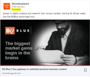 linkedin advertisement screenshot